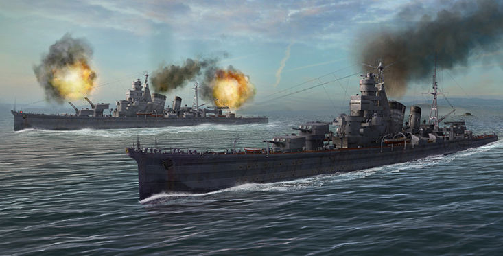 Крейсеры World of Warships