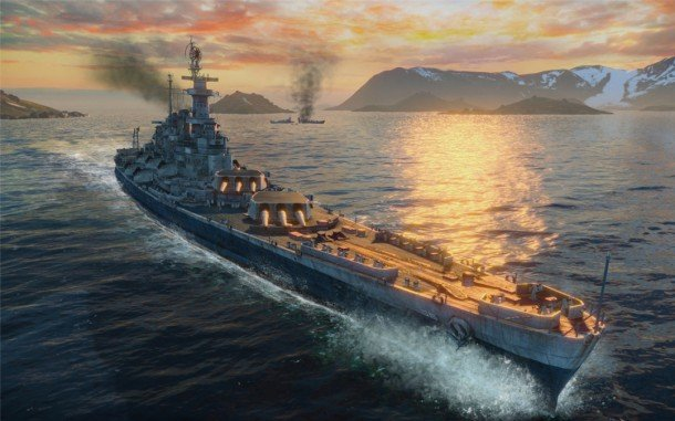 Общая тактика в бою линкорам World of Warships